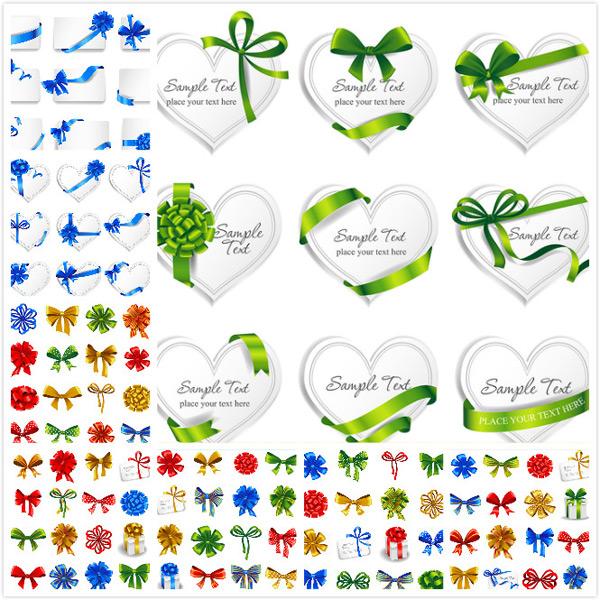 0 点 关键词: 蝴蝶结丝带矢量素材,绿色丝带,拉花,节日喜庆,节日庆典
