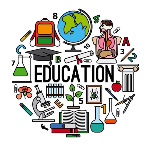教育元素组合矢量