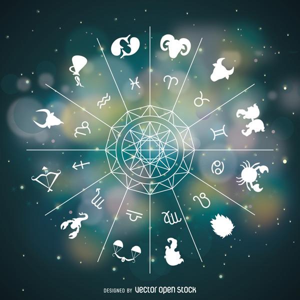 星空下的星座图片