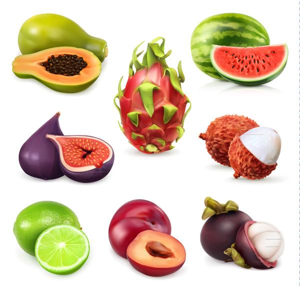美味水果设计矢量