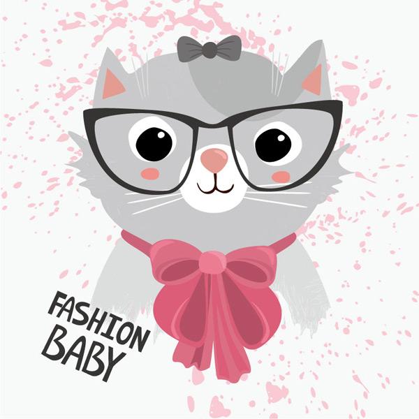 卡通时尚猫咪