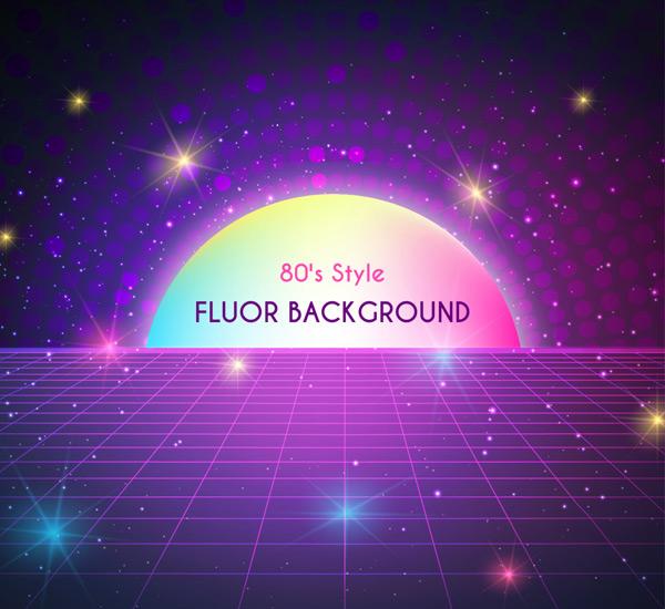 紫色网格光效背景
