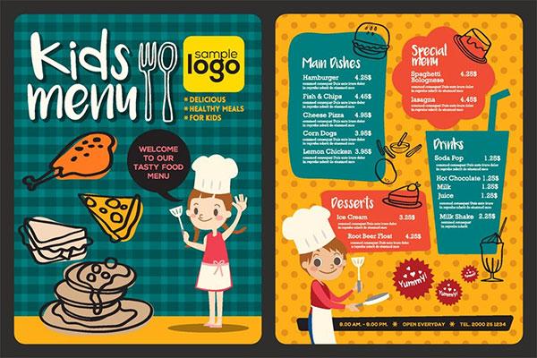 菜单,儿童,营养菜单,展架,纸袋,菜单,宣传,包装,设计,vi设计,菜单菜谱