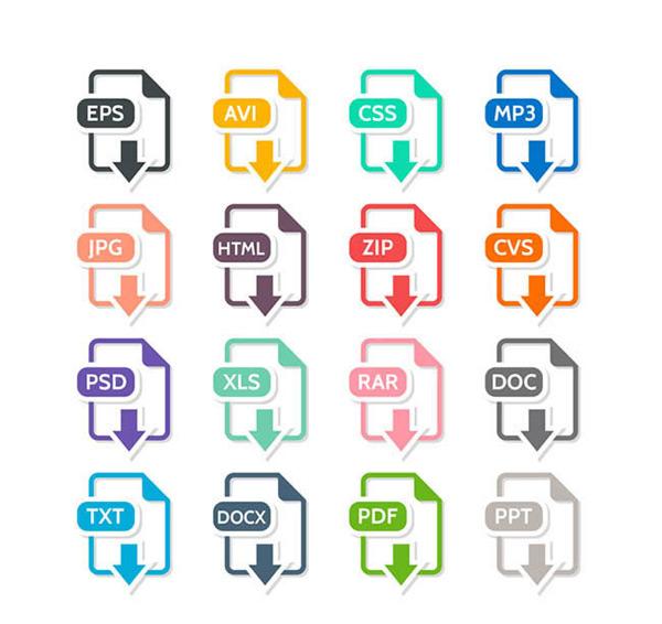 表格,视频,图片,矢量,压缩包,幻灯片,文档,文件,图标,矢量图,ai格式