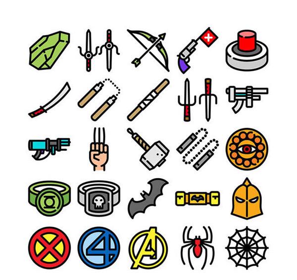 矢量各式图标所需点数: 0 点 关键词: 游戏图标矢量图下载,宝石,箭