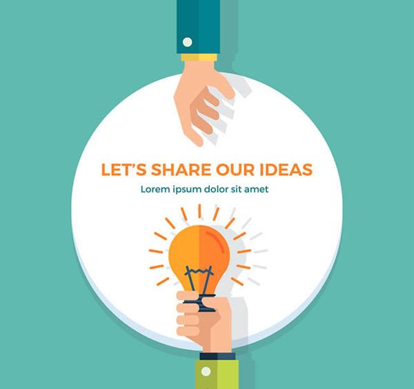 素材分类: 矢量设计元素所需点数: 0 点 关键词: 创意思维分享插画