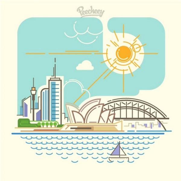 城市风景线图