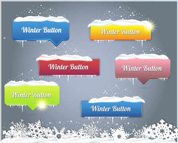 网页冬季导航按钮