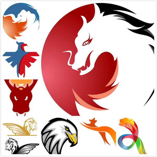 点 关键词: 创意动物标志图形,logo设计,猎豹,牛头,龙头,长翅膀的狮子