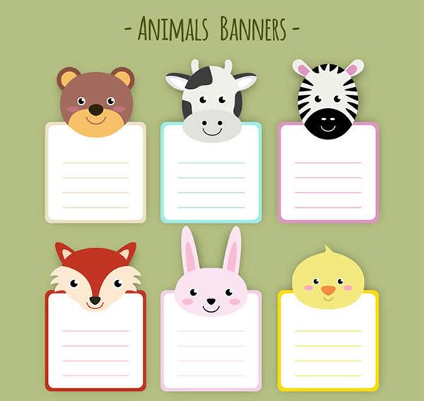 动物头像便签纸