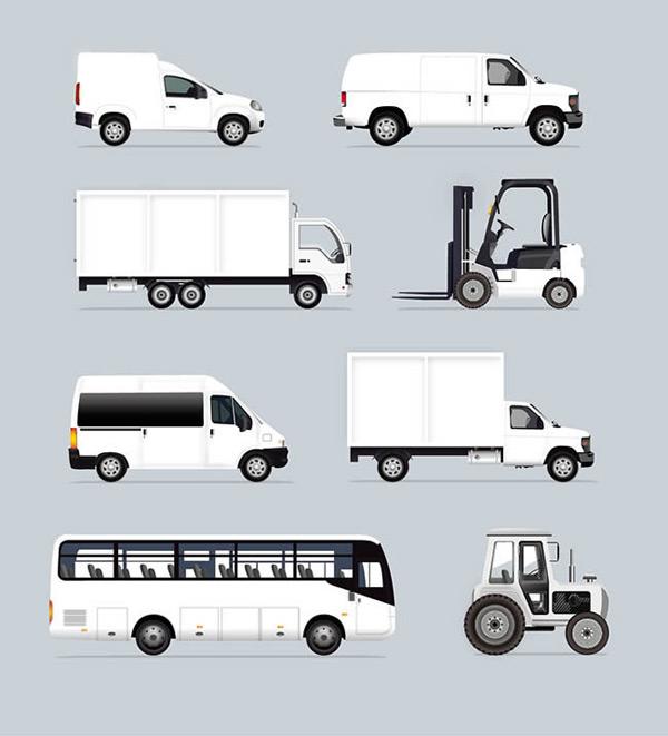 0 点 关键词: 工业车辆矢量图下载,大巴车,面包车,汽车,白色,汽车,客