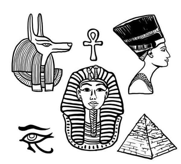 埃及金字塔像简笔画