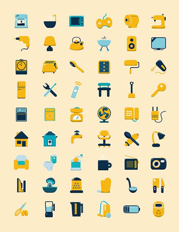 点 关键词: 生活用品图标矢量图下载,家居生活,用品,图标,日用品,马