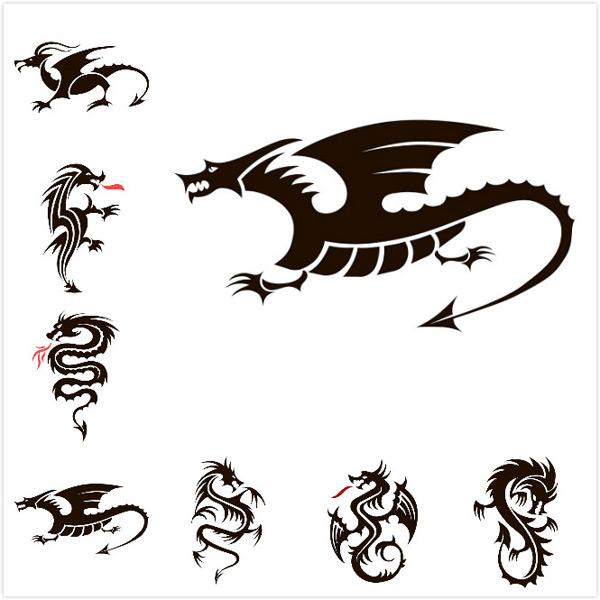素材分类: 矢量图案所需点数: 0 点 关键词: 精致龙纹身图案矢量素材