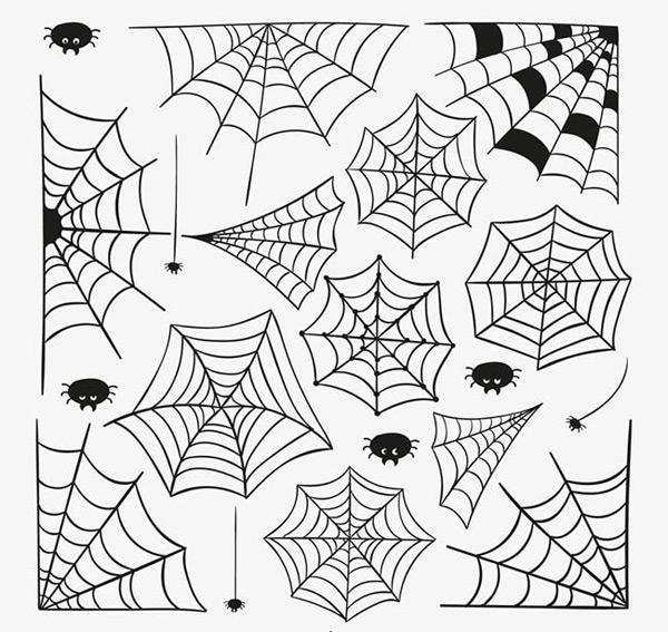 花纹,花边,卡通,手绘,蜘蛛网,背景花纹,蜘蛛,昆虫,矢量图,ai格式 下载