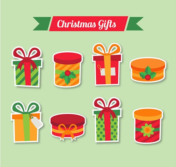 圣诞节礼盒简笔画