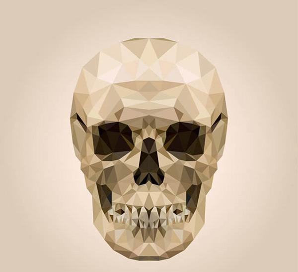 水晶骷髅头矢量