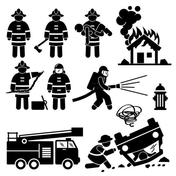 0 点 关键词: 消防元素剪影矢量图下载,人物,消防队员,火灾,车祸