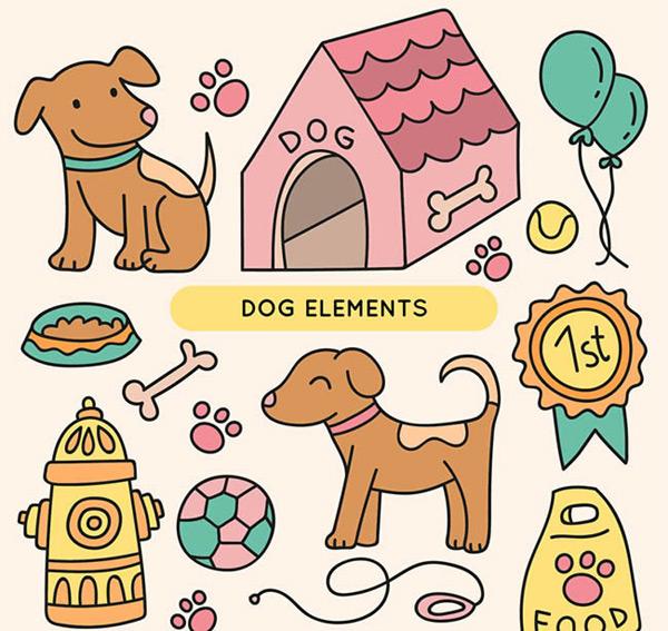 0 点 关键词: 宠物狗元素矢量图下载,动物,狗,脚印,狗窝,气球,棒球