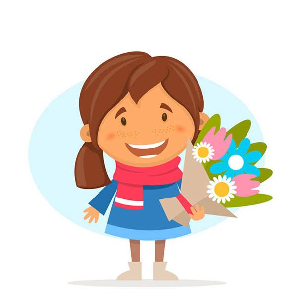 0 点 关键词: 卡通拿花束的女孩矢量图下载,女孩,孩子,人物,花束,笑脸