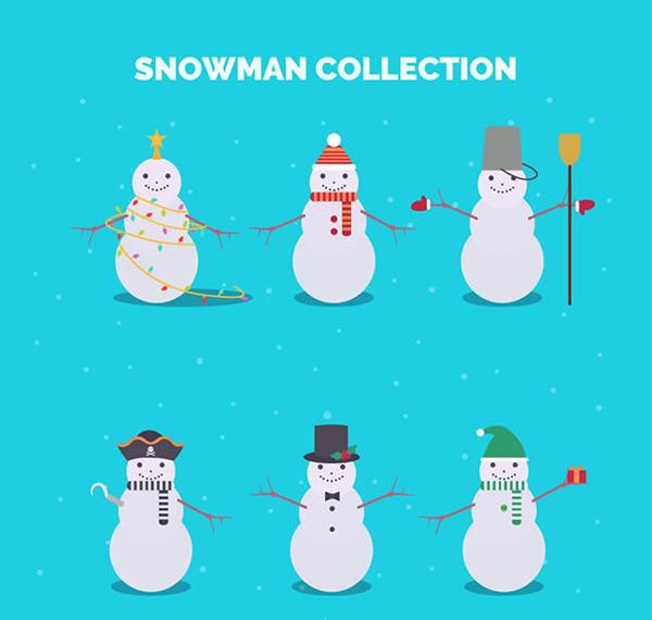 素材分类: 矢量圣诞节所需点数: 0 点 关键词: 可爱冬季雪人矢量图