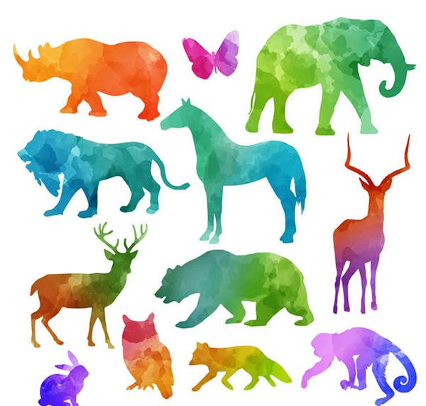 0 点 关键词: 彩色野生动物剪影矢量图下载,犀牛,蝴蝶,大象,狮子,马