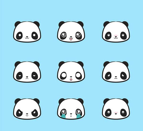 素材分类: 矢量卡通动物所需点数: 0 点 关键词: 可爱熊猫头像矢量图