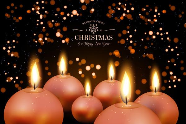 矢量圣诞节所需点数: 0 点 关键词: 圣诞新年优雅的背景圆形蜡烛