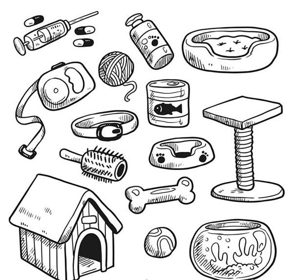0 点 关键词: 手绘宠物用品矢量图下载,注射器,药丸,遛狗绳,项圈
