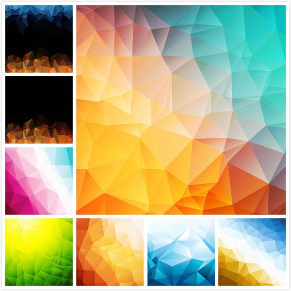 多边形,几何图形,几何背景,低多边形背景,渐变色背景,矢量素材,eps