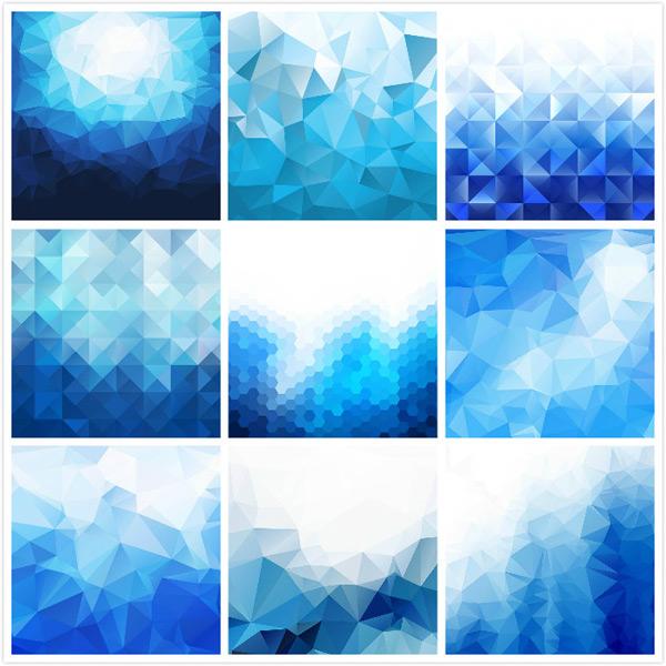 六边形,平面几何图形,几何背景,低多边形背景,渐变色背景,矢量素材