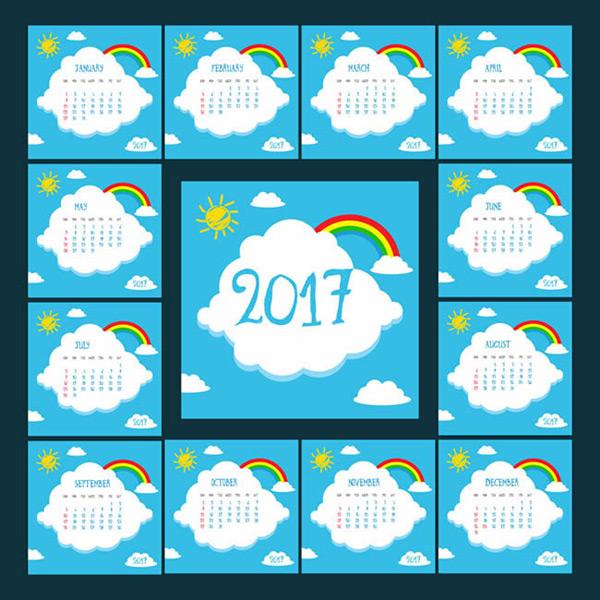 2017云朵日历