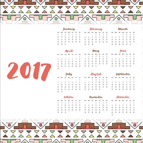 2017部落元素日历