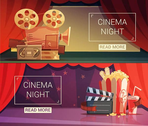 0 点 关键词: 电影元素banner矢量图下载,放映机,电影胶卷,场记板,爆