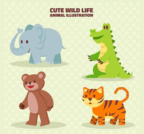 素材分类: 矢量卡通动物所需点数: 0 点 关键词: 卡通野生动物矢量图