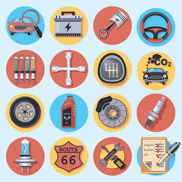 0 点 关键词: 汽车元素图标矢量图下载,汽车蓄电池,放大镜,检查,车辆