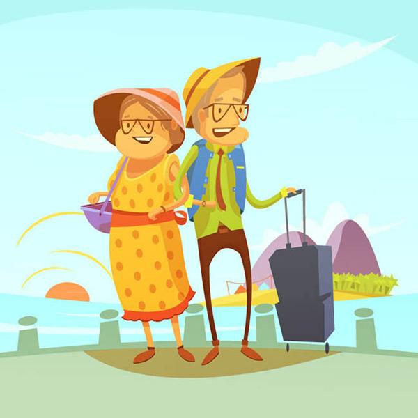 矢量生活人物所需点数: 0 点 关键词: 旅行的老年夫妇矢量图下载