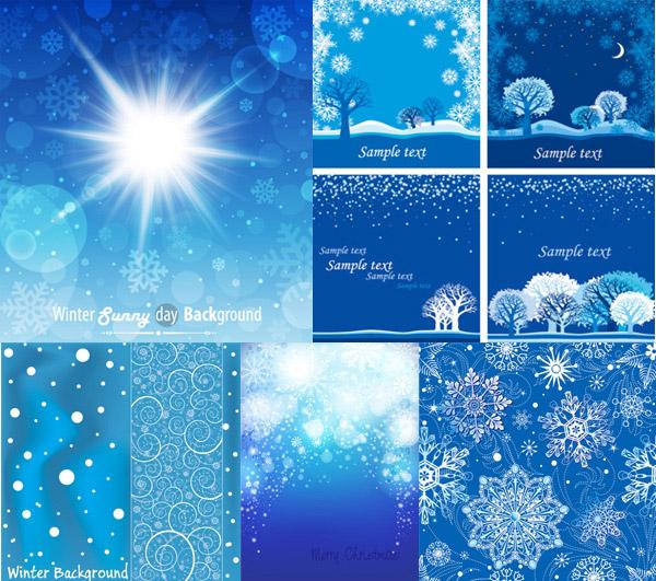 雪花图案背景_矢量背景