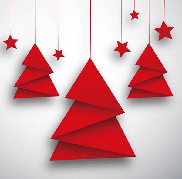折纸圣诞树贺卡