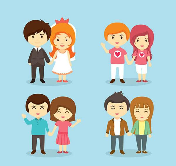 素材分类: 矢量生活人物所需点数: 0 点 关键词: 卡通情侣矢量图下载