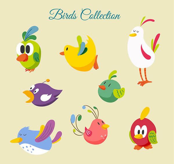 可爱卡通鸟图片