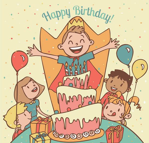 生日快乐 手绘连环画