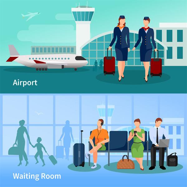 空姐和候机人员