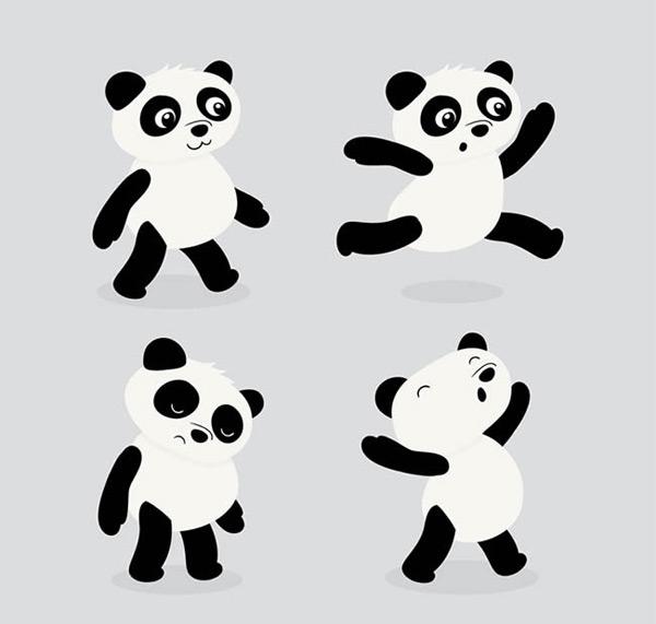 卡通熊猫矢量图_素材中国sccnn.com