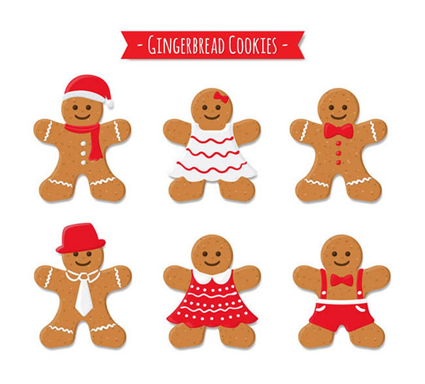 饼干,食品,姜饼人,圣诞节
