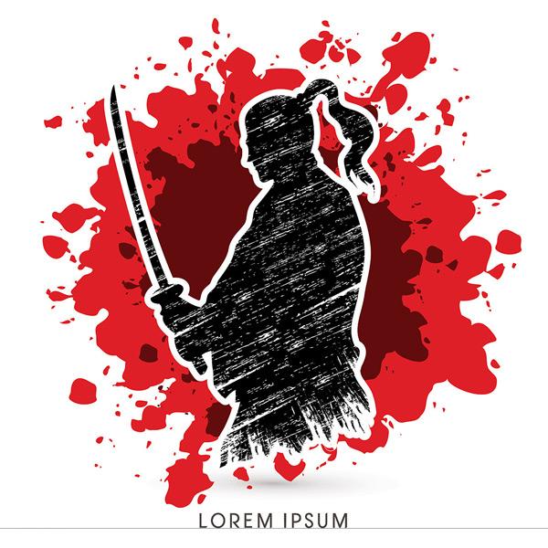 矢量职业人物所需点数: 0 点 关键词: 拿剑的日本武士剪影矢量素材