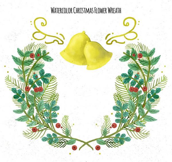 0 点 关键词: 水彩绘花环和铃铛矢量图下载,水彩,圣诞节,花环,铃铛