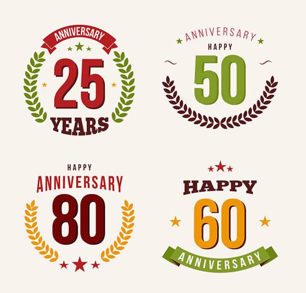 0 点 关键词: 创意周年纪念徽章矢量图下载,25周年,50周年,60周年,80