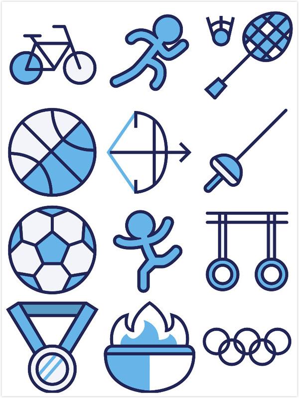 运动标志矢量_素材中国sccnn.com图片