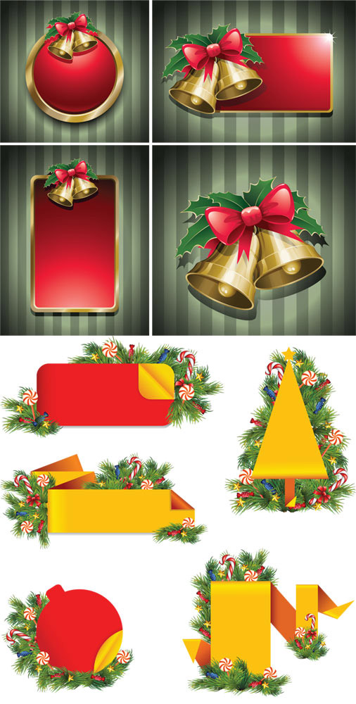 圣诞铃铛花纹边框对话
